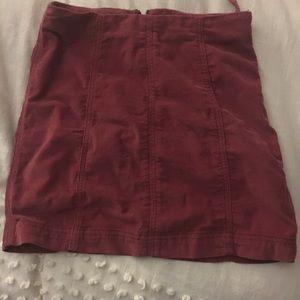 Free People corduroy mini skirt